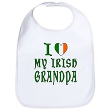 I Love My Irish Grandpa Bib