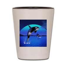 orca_puzzle Shot Glass