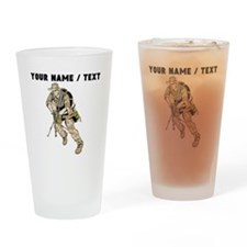 Custom Army Soldier Drinking Glass