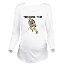Custom Army Soldier Long Sleeve Maternity T-Shirt