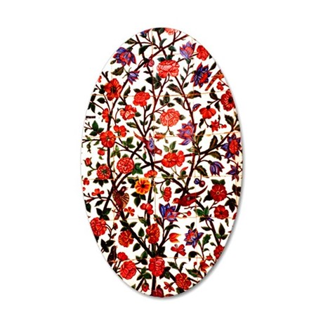 persian garden panel 1 35x21 Oval Wall Decal