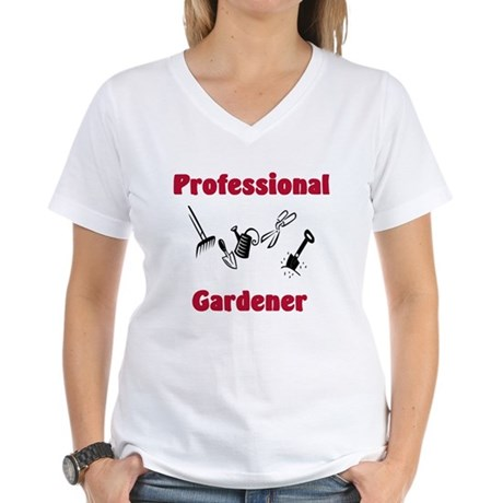 Professional Gardener Women's V-Neck T-Shirt