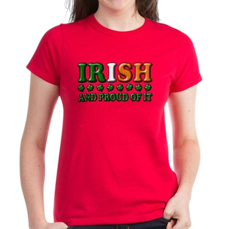 Irish and Proud of It 3D Women's Dark T-Shirt