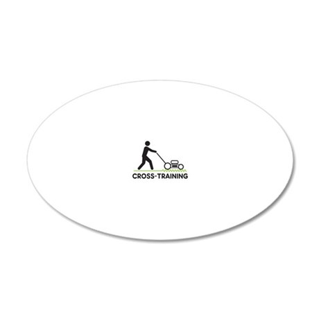 cross training blk 20x12 Oval Wall Decal
