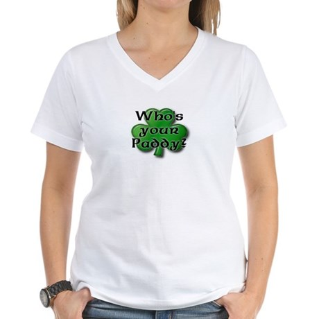 Who's your Paddy? Women's V-Neck T-Shirt