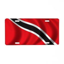 trinidad_flag Aluminum License Plate