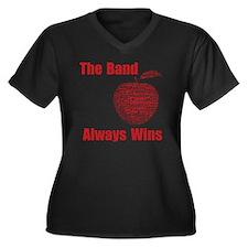 Apple Cup co Women's Plus Size Dark V-Neck T-Shirt