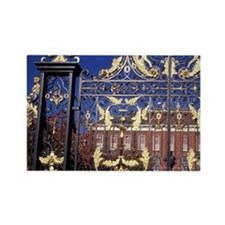 England, London. Gilded gate outs Rectangle Magnet