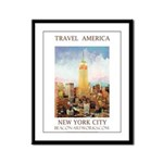 New York City - Travel America Framed Panel Print