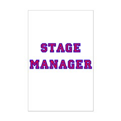 Stage Manager 2 Mini Poster Print