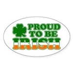Proud to Be Irish Tricolor Oval Sticker