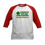 Proud to Be Irish Tricolor Kids Baseball Jersey