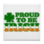 Proud to Be Irish Tricolor Tile Coaster