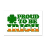 Proud to Be Irish Tricolor Mini Poster Print