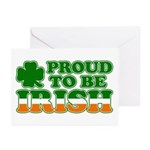 Proud to Be Irish Tricolor Greeting Cards (Package