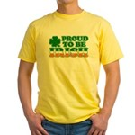 Proud to Be Irish Tricolor Yellow T-Shirt