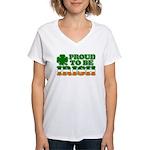 Proud to Be Irish Tricolor Women's V-Neck T-Shirt