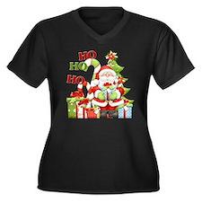 ho ho ho cop Women's Plus Size Dark V-Neck T-Shirt