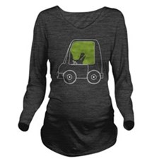 TRexCantDrive_Dark Long Sleeve Maternity T-Shirt