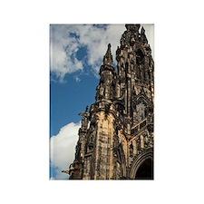 Gothic Scott Monument dedicated t Rectangle Magnet