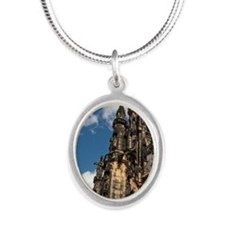 Gothic Scott Monument dedicat Silver Oval Necklace