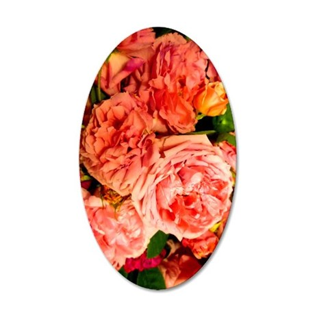 persian roses 3 v 35x21 Oval Wall Decal