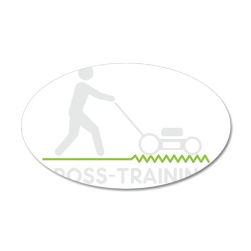 cross training wht2 35x21 Oval Wall Decal