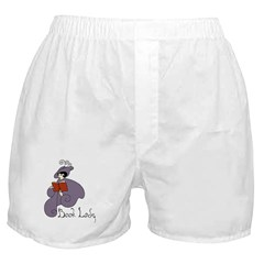 Book Lady Boxer Shorts