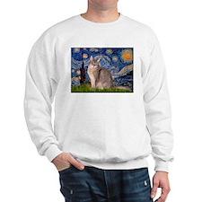 Starry / Blue Abyssinian cat Sweatshirt