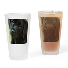 BlackLabPuppy2006 Drinking Glass