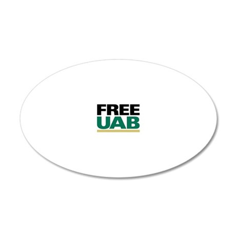 FREE UAB NOW! YARD Sign 20x12 Oval Wall Decal