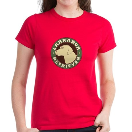 Yellow Lab Crest - Women's Dark T-Shirt