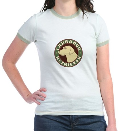 Yellow Lab Crest - Jr. Ringer T-Shirt