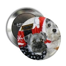 "Christmas Schnauzers 2.25"" Button"