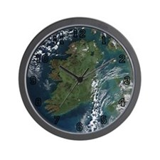Ireland Via Satelite Wall Clock