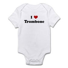 I Love Trombone Infant Bodysuit