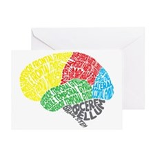 Your Brain (Anatomy) on Words Greeting Card