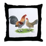 Blue Red OE Throw Pillow