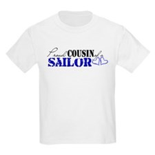 Proud Cousin of a Sailor Kids T-Shirt