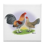 Blue Red Pair Tile Coaster