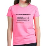 """Probability"" Women's Dark Color T-Shirt"