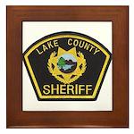 Lake County Sheriff Framed Tile