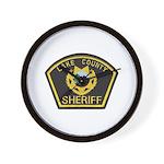 Lake County Sheriff Wall Clock