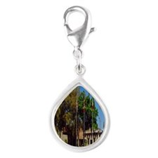 Sahib Shrine2.91x4.58 Silver Teardrop Charm
