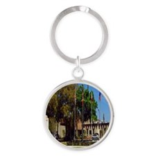 Sahib Shrine2.5x3.5 Round Keychain