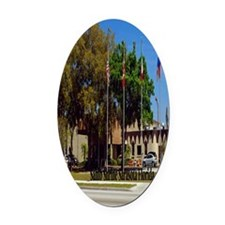 Sahib Shrine5.5x8.5 Oval Car Magnet