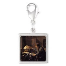 The Astronomer Silver Square Charm