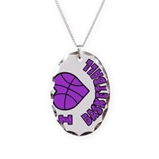 lavendar sideways, Love Basket Necklace