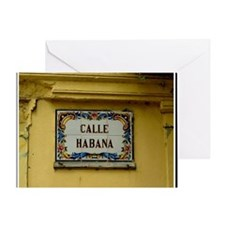 CUBACalleHabanaCanvasChazExt Greeting Card