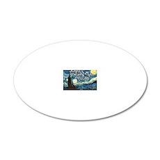 Raynas 20x12 Oval Wall Decal